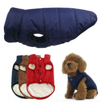 Waterproof Pet Dog Warm Padded Vest Coat Clothes Puppy Winter Jacket Apparel