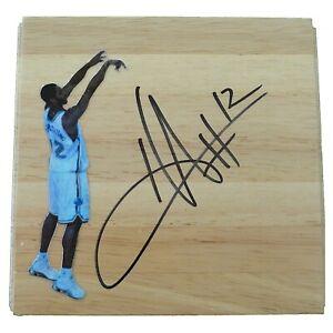 Hilton Armstrong Hornets Signed Basketball Floor Board Exact Proof Autograph COA