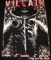 """Men's """"Villain When It Rains It Pours Long Live The Villain"""" T-shirt Sz 4XL A240"""