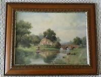 River Scene by Herbert King Framed