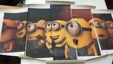 Minions movie Kids Children Art print poster canvas decoration 5 pieces art M1