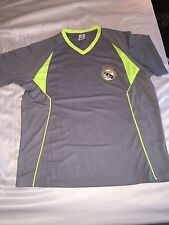 Real Madrid Grey Lime Green T Shirt Size Large