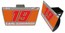 NASCAR #19 CARL EDWARDS Metal Trailer Hitch Cover-NASCAR Hitch Cover