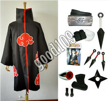 Japanese Anime Naruto costume Akatsuki itachi Uchiha cosplay cloak set