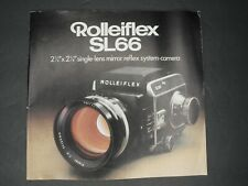 "Rollei Rolleiflex SL66 2 1/4"" x 2 1/4"" Mirror Reflex System Camera 1973 Brochure"
