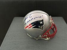 Asante Samuel New England Patriots Autograph Mini Helmet