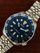 VINTAGE BLUE FACE MODDED SEIKO DIVER 7002-700J AUTOMATIC MEN'S WATCH 251407