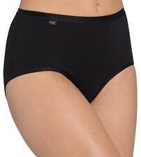 Sloggi Feel Pure 6 X Panties Maxi Size 38 48 in 2 Col. Pack of 3 Briefs Triumph Black 48