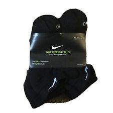 Nike Men's Dri Fit Low Cut Athletic Socks 6 Pack Black Size 8-12 L NEW