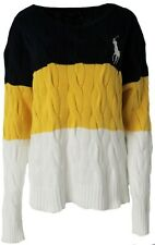 Polo Ralph Lauren Womens Chunky knit cable Jumper Boyfriend Sweater Big Am8 XL