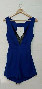 BNWT ONE THAT I WANT Designer Label Womens Blue Playsuit Jumpsuit, Size 10