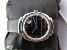 RARE VINTAGE SS SWISS MADE BLACK DIAL FORTIS TRUELINE GENTS AUTOMATIC WRISTWATCH