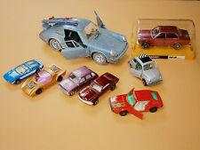 lot VINTAGE TIN TOY CARs RARE Polistil Matchbox Playart Fiat Porshe Mustang Ford