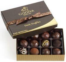 GODIVA DARK CHOCOLATE TRUFFLES GIFT SET 12pcs / 8oz  NEW & SEALED