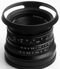 Hengyijia HD.MC 25mm F1.8 (Black) Manual Focus LENS f/ Fujifilm FX Mount Camera