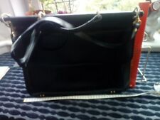 Ladies black leather briefcase
