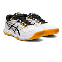 Asics Mens Gel-Upcourt 4 Indoor Court Shoes White Sports Squash Breathable