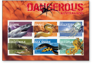 AUS0623B Dangerous Australia, animals BLOCK MNH AUSTRALIA 2006