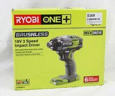 Ryobi One+ Impact Driver 3- Speed R18IDBL-0 18V Brushless Lithium-Ion SKIN ONLY