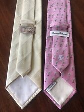 Tommy Bahamas Set Of Two Tropical Ties 100% Silk.