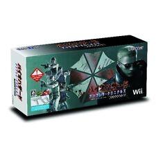 Used Wii Biohazard Umbrella Chronicles w/ Wii Zapper Japan Import