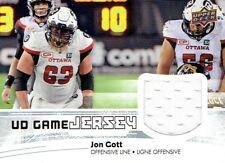 2018 Upper Deck CFL JOHN GOTT JERSEY -- OTTAWA RED BLACKS