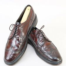 HANOVER LB SHEPPARD RED BROWN GENUINE SHELL CORDOVAN WINGTIP SHOES 8.5 B/AA