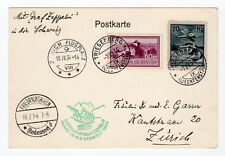 1934 Liechtenstein Graf Zeppelin Flight Cover, Trisenburg to Zurich, S259B*