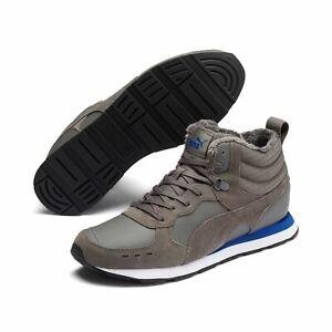 Puma Vista Mid Wtr Shoes High Trainers Padded 369783 Castlerock Grey
