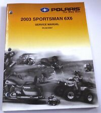 POLARIS OEM ATV USED SERVICE MANUAL NEW CD 2003 SPORTSMAN 6X6 9918067