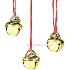 12 CHRISTMAS Party Favors JINGLE BELL NECKLACES Holiday Winter Kids Jewelry