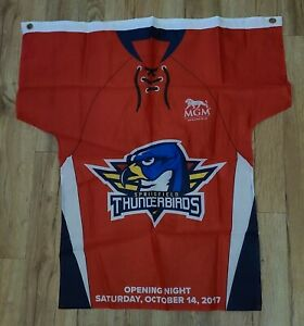 Springfield Thunderbirds AHL Hockey Opening Night 10/14/17 Flag New