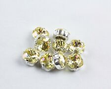 4 Swarovski Crystal Champagne Color Sew On 12MM Fancy Square Rhinestones #4470