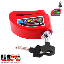 Motorcycle Scooter Anti-theft Brake Disc Lock Wheel Alarm Security Loud Red