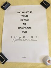 John Lennon Imagine Poster Kater Litho 1988