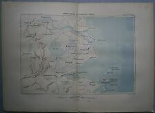 1882 Reclus map MOUTH OF YANGTZE RIVER, CHINA (#2)