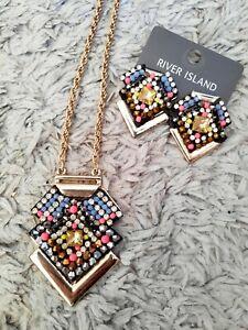 River Island Necklace & Earrings