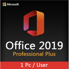 MICROSOFT OFFICE 2019 PROFESSIONAL PLUS 32/64bit License Key Instant Delivery.