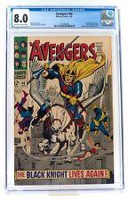 Avengers #48 - 1st Dane Whiteman Black Knight - CGC 8.0 OFW to W - Eternals!