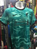 Nike Liverpool Away 20-21 Hyper Turquoise/Black Soccer Jersey Size L Men's Only