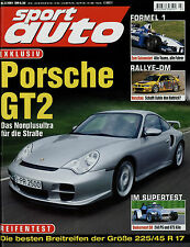 sport auto 3/01 2001 Mercedes C 320 T Donkervoort D8 911 GT2 GT3 Cup Rinspeed