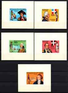 IVORY COAST 1976 - SET PROOF / IMPERF DISCOVERY OF AMERICA MNH