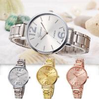 Fashion Women Analog Luxury Crystal Stainless Steel Quartz Wrist Watch Bracelet