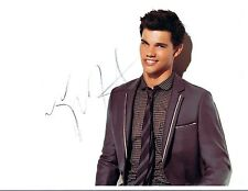Taylor Lautner Signed Autographed 8x10 Photo Twilight Scream Queens COA VD