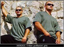 grün großkariertes T-Shirt BW Bodybuilding Gym Sport Freizeit Fitness von MORDEX