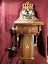 WOOD CASE ANTIQUE WALL TELEPHONE ERICSSON SWEDEN SWEDISH SCANDINAVIA