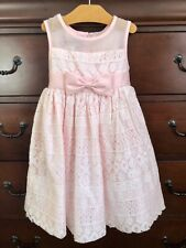 Soft Pink Girl Dress With Tulle Underskirt Size 4