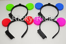 12 Light-Up Mickey Mouse Ears Flashing Minnie Headbands LED Blinking Favors