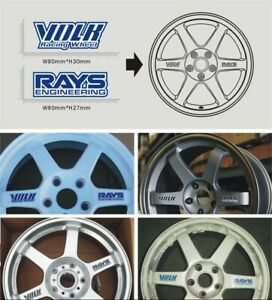 4pcs Car Styling Volk Rays Engineering Wheel Sticker Volk Racing Emblem Decal