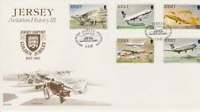Unaddressed Jersey FDC First Day Cover 1987 Aviation History III Airport